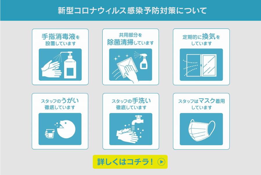 新型コロナウィルス感染予防対策について
