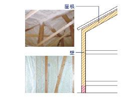 天井・壁吹き付け断熱・基礎断熱